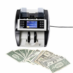 Money Bill Cash Counter Bank Currency Counting Machine Uv And Mg Counterfeit B1x7