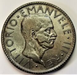 1927-r Italy 20 Lire Spendidly Toned Xf Silver Coin - Vittorio Emanuele Iii
