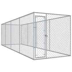 Usa Outdoor Dog Kennel Lockable Mesh 299x75.6x78.7 Galvanised Steel Cage