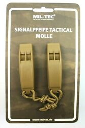 Lot Of 2 X British Army Style Signalling Tactical Molle Whistles