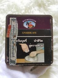 Vintage Tin Box, Old Cigarette Case, Collector's Work, Ritmeester Livarde 10's