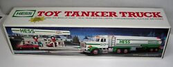 1990 Hess Gasoline Toy Tanker Truck Sounds Lights Mint Condition Never Removed