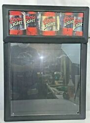 Vintage 2000 Coors Light Brewing Light Up Write On Plastic Beer Sign