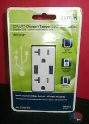 Leviton Decora 20a Usb Charger/tamper Resistant Outlet-white