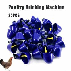 25pcs Poultry Drinking Machine Water Nipples Fully Automatic For Chicken Duck