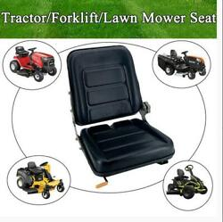 Waterproof Tractor Seat Lawn Garden Slidable Black Tractor Seat Fits Most Brands
