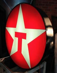 Vintage Lighted Texaco Gas Service Station Advertising Sign