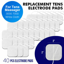 40 Tens Electrode Pads Ems Replacement Unit 7000 3000 2x2 Muscle Stimulator