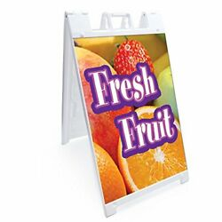 Signmission Signicade Fresh Fruit A-frame Sidewalk Sign With Graphics On Each...