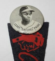 Rare 1948 Baseball Satchel Paige Cleveland Indians World Series Pin Coin Pennant $295.00