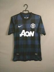 Manchester United Jersey Authentic 2013 2014 Away Player Issue M Shirt Nike Ig93