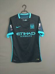 Manchester City Jersey Authentic 2015 2016 Away Player Issue M Shirt Nike Ig93