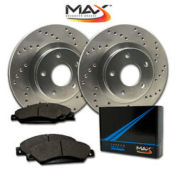 [front] Rotors W/metallic Pad Drilled Brakes 2005 06 07 08 09 2010 Mustang Gt