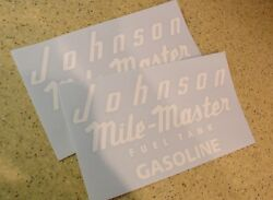 Johnson Vintage Mile Master Tank Decal 2-pak Free Ship + Free Fish Decal