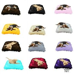 Soft Padded Faux Fur Dog Bed Cat Bed Pet Mat 12 Colors By Dognappers Usa