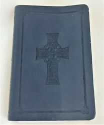 Small Blue Leather Bible English Standard Version 2007 With New York Bookmark