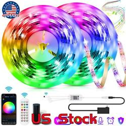 Smart Wifi 5050 Rgb Leds Strip Lights Remote Control Work With Google Assistant
