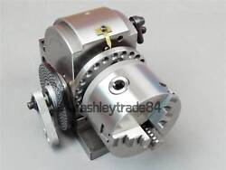 Bs-0 Eco Precision Dividing Head With 5 3-jaw Chuck And Tailstock 125mm