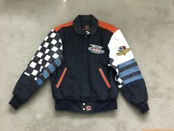 84th 2000 Indianapolis 500 Racing Twill/leather Jacket Mens Medium Jh Design