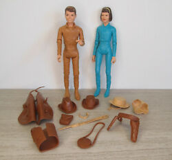 Vintage Marx Toy Best Of The West Jamie And Janice West With Lots Of Accessories