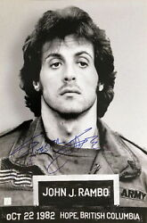 Sylvester Stallone Autographed Rambo First Blood Mugshot 16x24 Photo Asi Proof