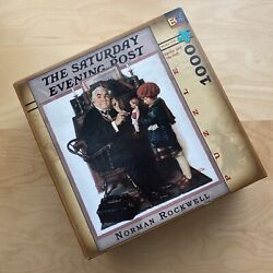 The Saturday Evening Post Norman Rockwell 1000 Pc Puzzle Jigsaw Doctor And Doll