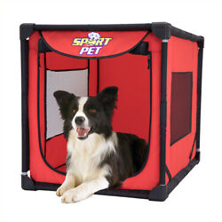 Soft Sided Pet Pooch Crate Portable Dog Kennel Travel Carrier House Bed Large