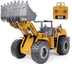 Tongli 583 114 Scale Metal Rc Wheel Loader Toy Construction Trucks Vehicles For