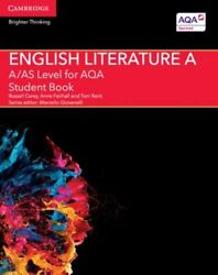 Aas Level English Literature A For Aqa Student Book New Carey Russell Cambridge