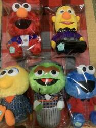 Shinee Andtimes Sesame Street Collab Big Plush Doll Toy 5 Types Complete Rare Japan New