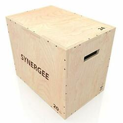 Synergee 3 In 1 Wood Plyometric Box For Jump Training And Conditioning. Wooden P