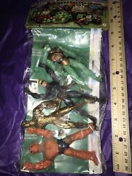 Vintage Spiderman Figures Doc Oct Green Goblin Thing Ko Set Of 4 Carded Read All