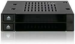 Icy Dock Dual 25rdquo Ssd Dock Tool-less Hot-swap Satasas Mobile Rack For Ext 35