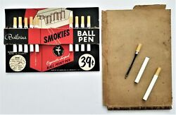 1950s Vintage Store Display Cigarette-shaped Ball Point Pens Ballerina W 11 Pens