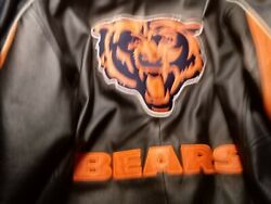Chicago Bears Leather Coat Big Logo Nfl Football By Carl Banks Large