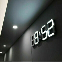 Modern 3D LED Digital Table Wall Clocks Alarm Snooze Temperature Indoor Decor US