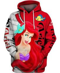 Disney Ariel Little Mermaid 3d Hoodie