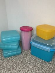 Tupperware Vintage 6 Piece Lot Storage Container Tumbler Cheese Sandwich Keepers