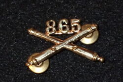 Ww2 Us Army 865th Field Artillery Regiment Officers Collar Insignia Device Pin