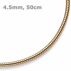 45mm Collier Tube Chaandicircne Collier Collier Collier En 585 Or Or Rouge 50cm