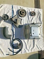 1958 Ford Paxton Supercharger 4 Barrel Air Cleaner Assy And Pulleys Bracket Idler