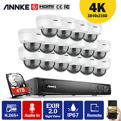 Annke 4k 8mp Security System Cctv Dome Audio Outdoor Ip Home Camera Nvr Recorder