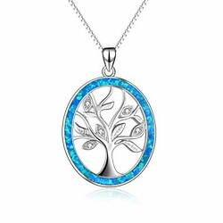 Sterling Silver Family Tree Of Life Pendant Necklace For Her Women Mom Grandma