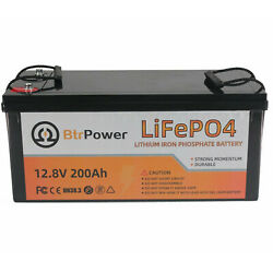 Lifepo4 Batteries Deep Cycle Battery Pack 12v 200ah For Rv Marine Solar System