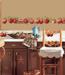 Country Apples Stars Berries Wall Stickers 40 Decals Kitchen Fruit Decor Border