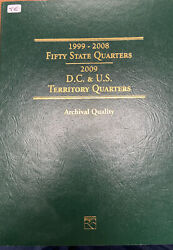 Fifty State Commemorative Quarters 1999-2008 + Archival Quality Display Book