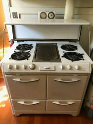 1950 Oand039keefe And Merritt Vintage Stove Double Oven Broiler Griddle 50s Retro