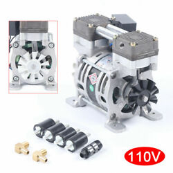 Oilless Vacuum Pump 25l/min Oil Free Air Compressor For Lab Low Noise 85w G1/8