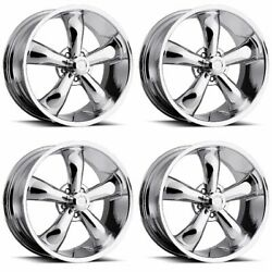 Set 4 20 Vision American Muscle Legend 5 20x9.5 Chrome 5x5 For Jeep Wheels 0mm