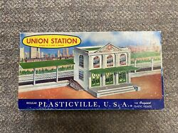 + Vintage Plasticville Bachmann Bros. O And S Gauge Union Station 1901 W/ Box St